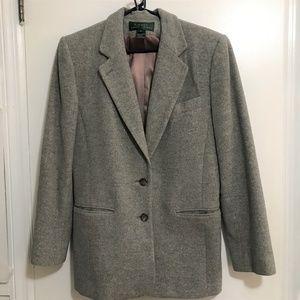Lauren Ralph Lauren Blazer Wool Cashmere Gray Sz10